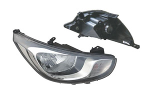 ACCENT '11 HEAD LAMP RUSSIAN