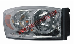 PICK UP'06-'08 Headlamp chromed/amber reflector