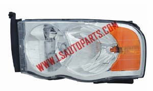 PICK UP'02-'05 Headlamp chromed/amber reflector